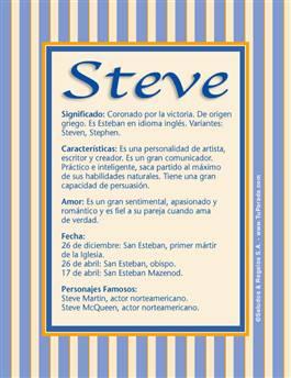 Nombre Steve