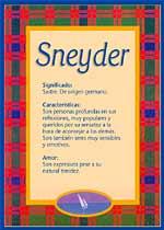 Nombre Sneyder