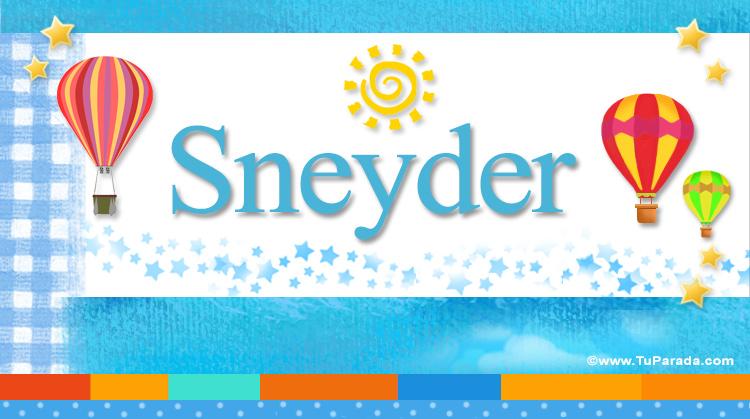 Sneyder, imagen de Sneyder