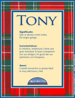 Nombre Tony