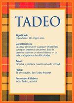 Nombre Tadeo