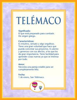 Nombre Telémaco
