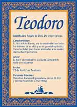 Nombre Teodoro