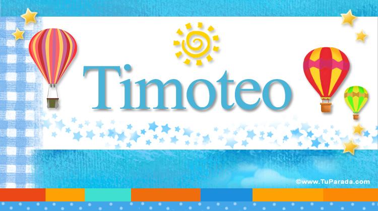 Timoteo, imagen de Timoteo