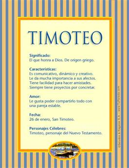 Nombre Timoteo