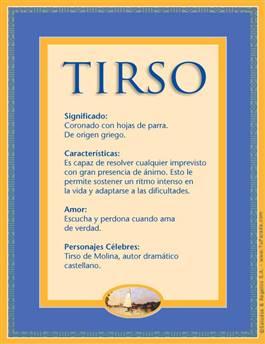 Nombre Tirso