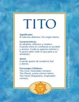 Nombre Tito
