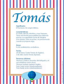 Nombre Tomás