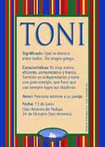 Nombre Toni