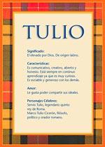 Nombre Tulio