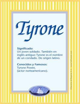 Nombre Tyrone