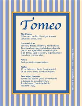 Nombre Tomeo