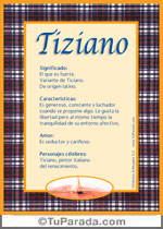 Nombre Tiziano
