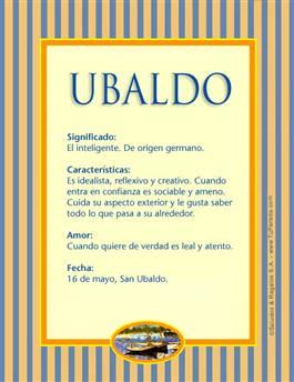Nombre Ubaldo