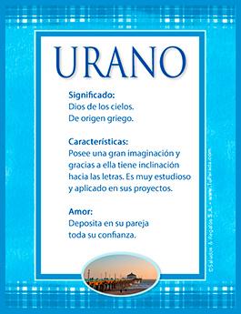 Nombre Urano