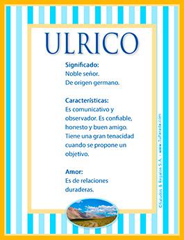 Nombre Ulrico