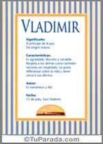 Nombre Vladimir