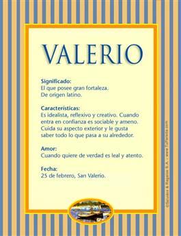 Nombre Valerio
