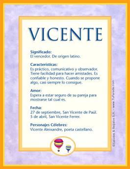 Nombre Vicente