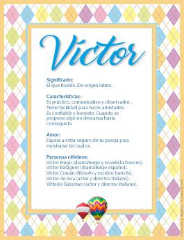 Nombre Víctor