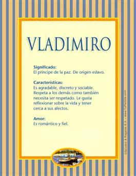 Nombre Vladimiro