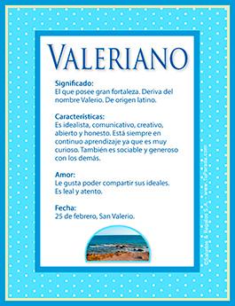 Nombre Valeriano