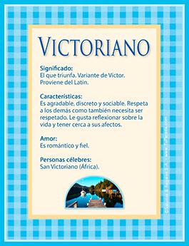 Nombre Victoriano