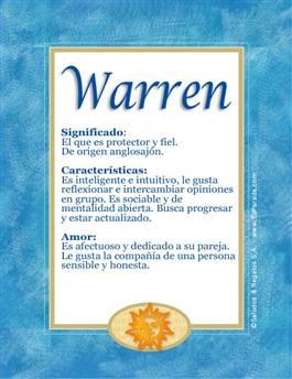 Nombre Warren