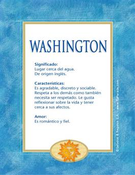 Nombre Washington