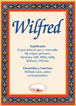 Nombre Wilfred