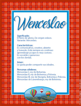 Nombre Wenceslao