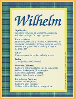 Nombre Wilhelm
