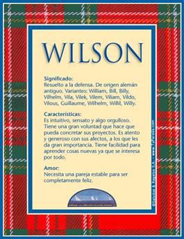 Nombre Wilson