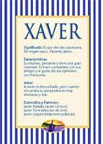 Nombre Xaver