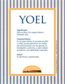 Nombre Yoel