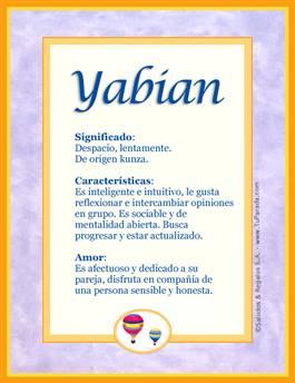 Nombre Yabian