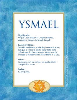 Nombre Ysmael