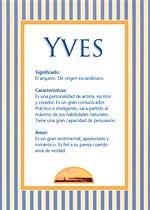 Nombre Yves
