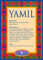 Nombre Yamil