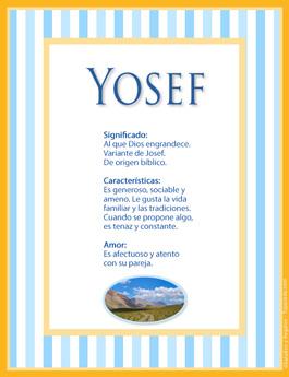 Nombre Yosef