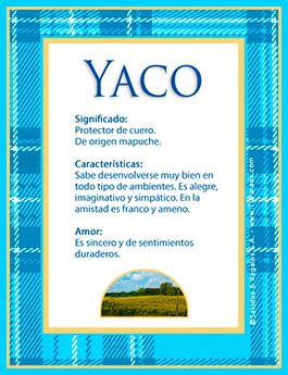 Nombre Yaco