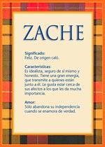 Nombre Zache