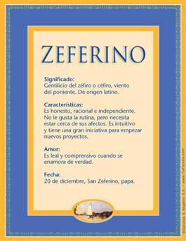 Nombre Zeferino
