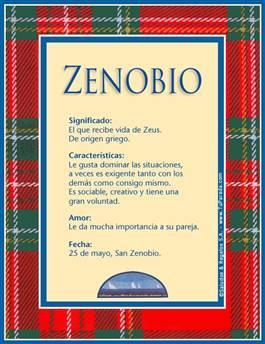 Nombre Zenobio