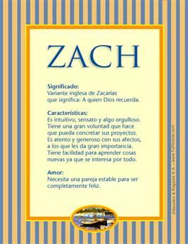 Nombre Zach