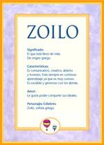 Nombre Zoilo