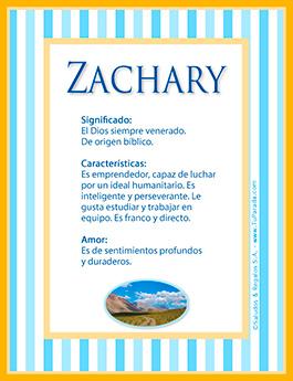 Nombre Zachary