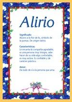 Nombre Alirio
