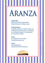 Nombre Aranza