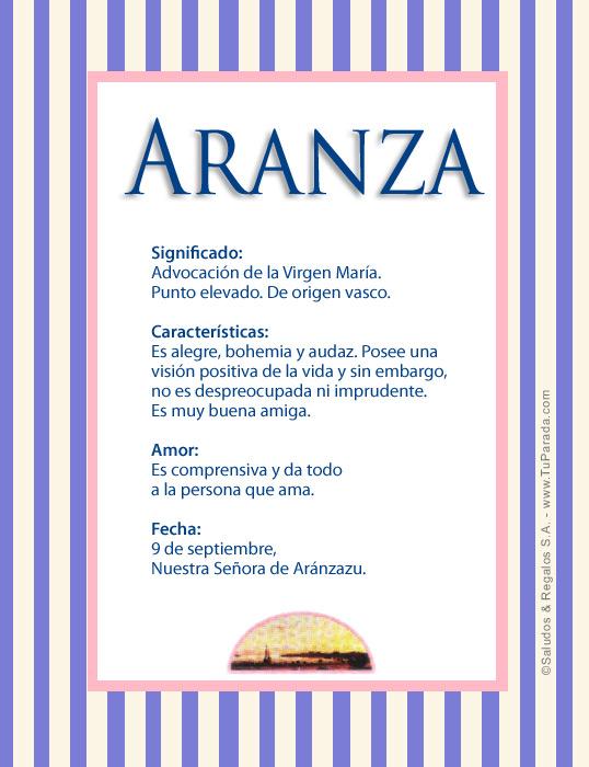 Aranza A, tarjetas